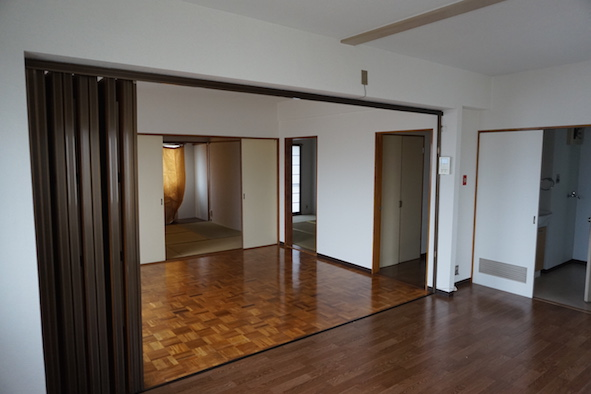 LDKと洋室、和室がつながり仕切らなければ広がさを感じます。