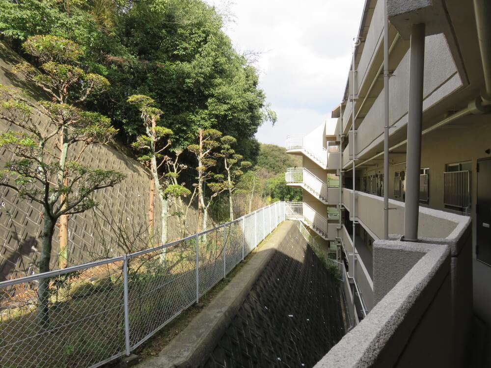 共用廊下からの眺め